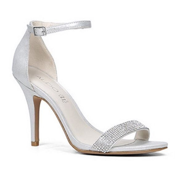 ALDO silver heels | Silver heels, Heels