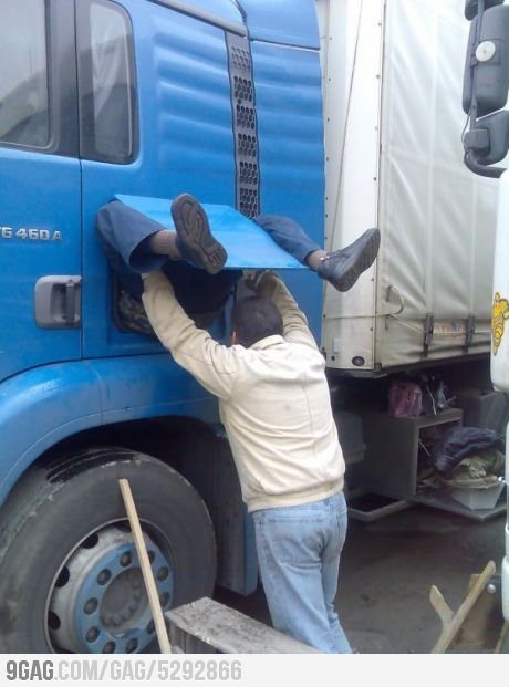 Birth Of A Truck Driver With Images Funny Pictures Laugh