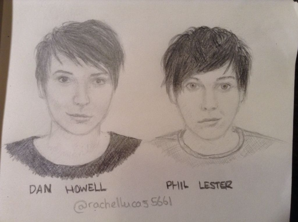 Dan and Phil, requested by @Sparklsnow . Not my best but I'm still pleased with them :)