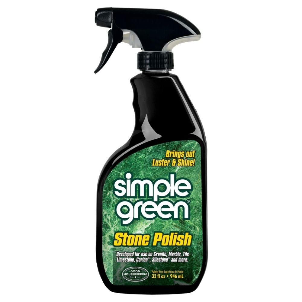 Simple Green 32 Oz Stone Polish Case Of 12 Engineered Stone Green Stone How To Clean Stone