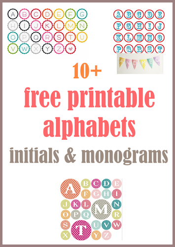 printable letter tags monograms initials free use them for unique diy buntings diy gift tags as seal for envelopes or for scrapbooking