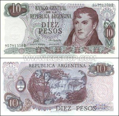 Argentina 10 Pesos (1976)
