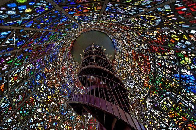 Inside the Symphonic Sculpture by Gabriel Loire at the