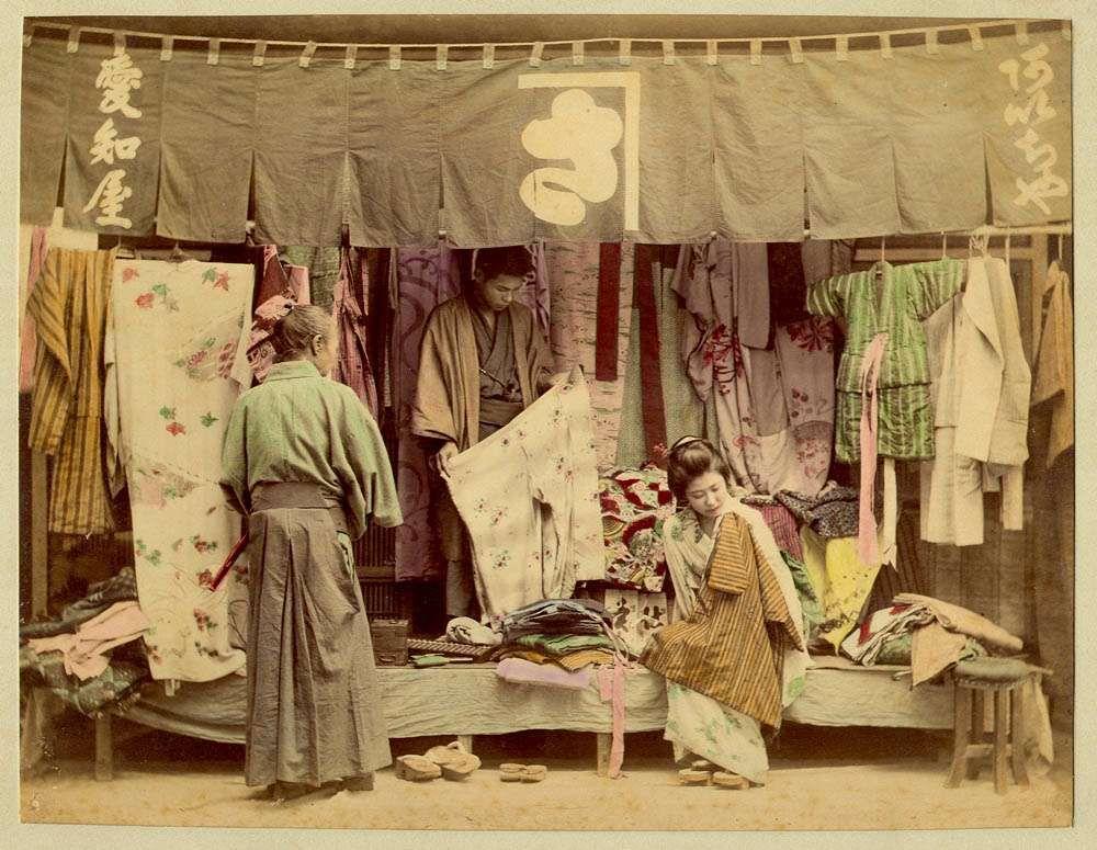 japan market routine Japan, Japan art, Meiji era