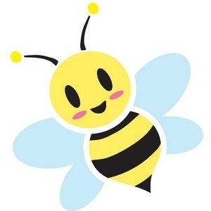 honey bee clipart image sweet cute cartoon honey bee buzzin rh pinterest co uk honey bee clip art images free honey bee clipart black and white
