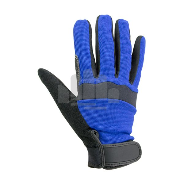 Synthetic leather palm with skid-proof patches. Reinforced palm and fingertip to give hands a 360° protection and offer highly anti-slip performance at same time.