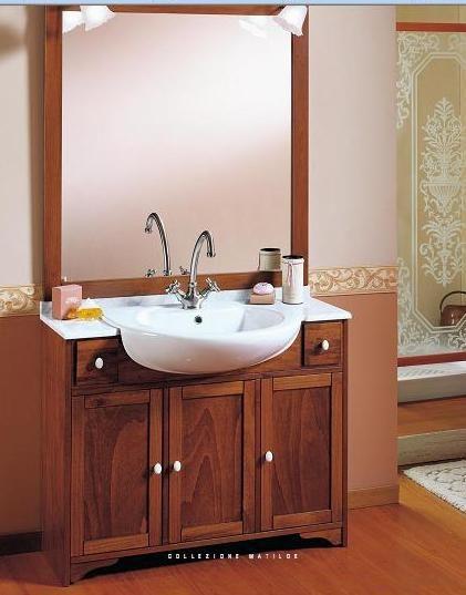 mobile bagno arte povera cm 105 con top in marmo | Mobile bagno arte ...