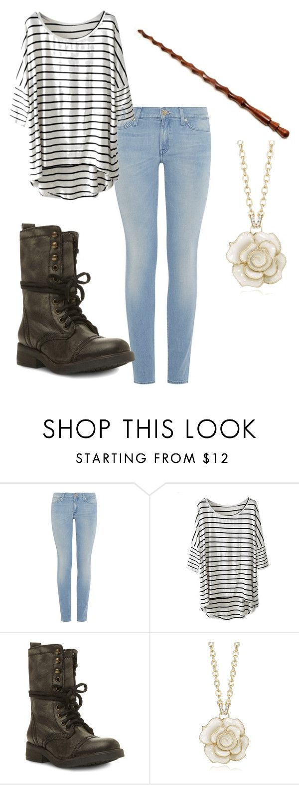 """""""Untitled #52"""" by nerdyturtlex ❤ liked on Polyvore featuring 7 For All Mankind and Steve Madden"""