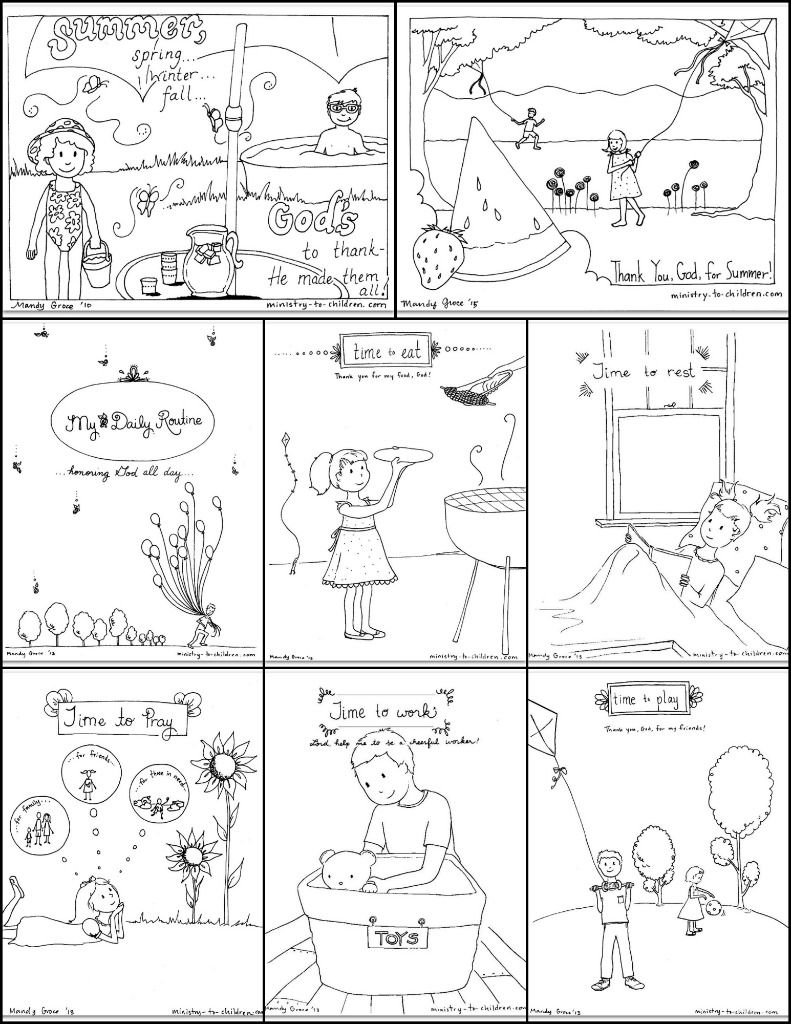 free summer coloring pages for kids bible coloring pages