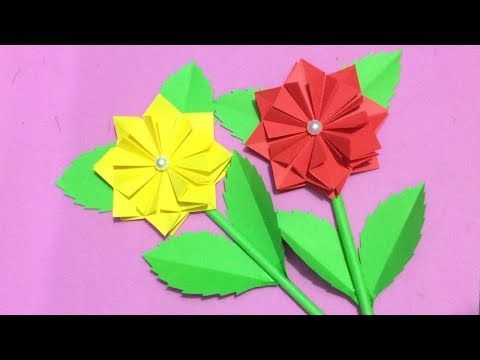How to make origami flower making paper flowers step by step diy how to make origami flower making paper flowers step by step diy paper crafts youtube mightylinksfo