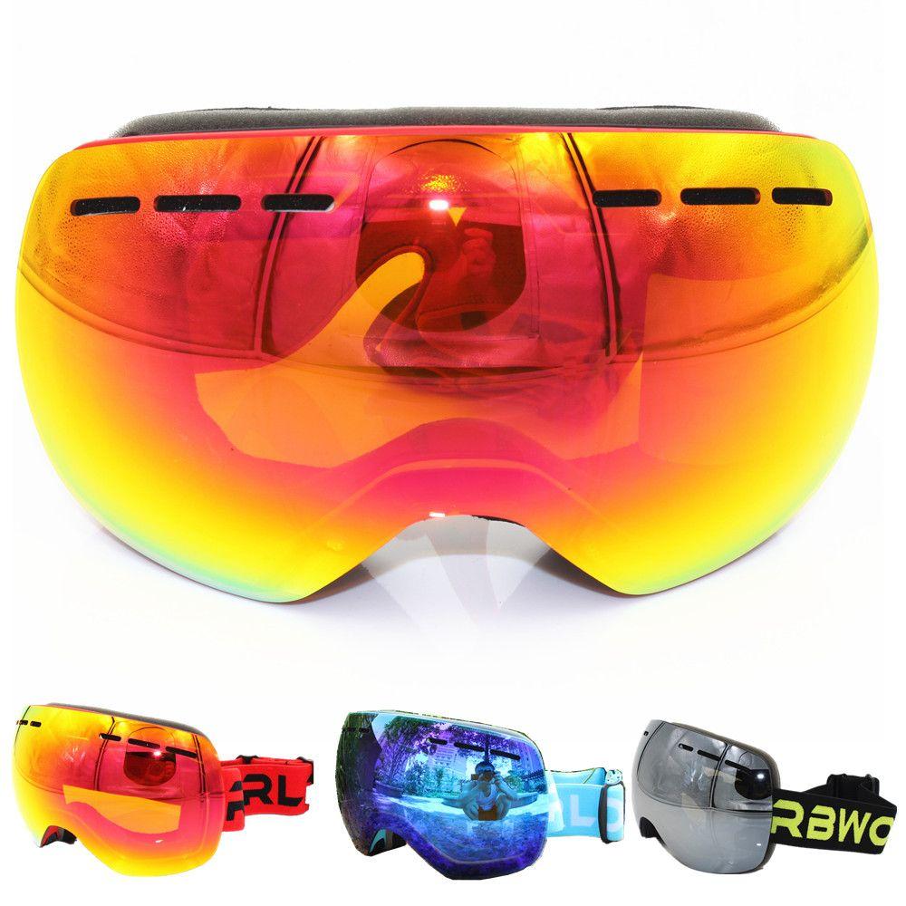 9e7056977d7 New RBWORLD brand ski goggles double layers UV400 anti-fog big ski mask glasses  skiing