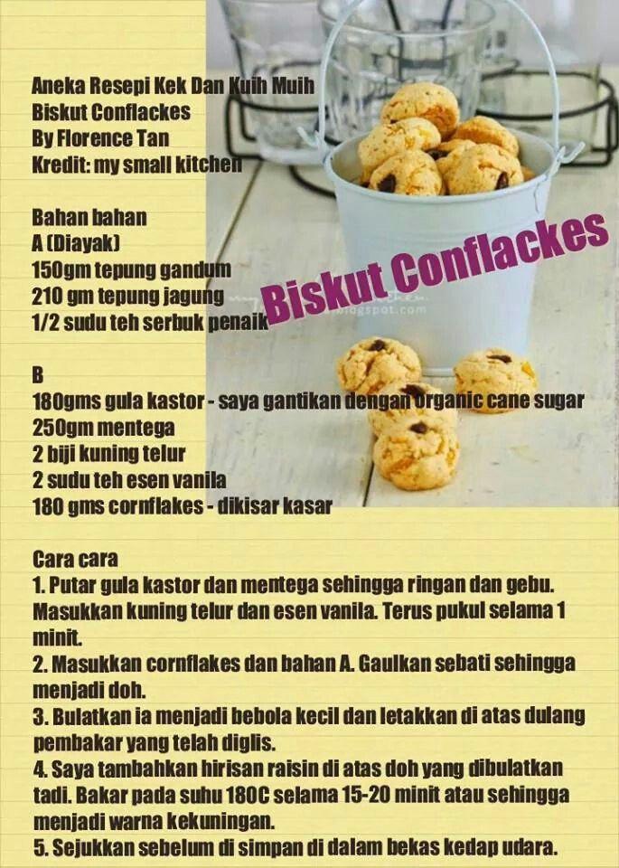 Cornflakes Cookies Resep Tepung Jagung Gandum
