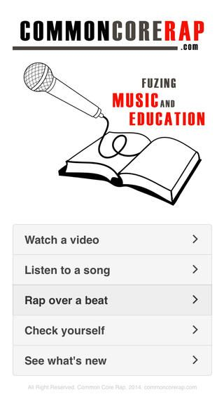 iPhone Screenshot 1 - Fuzing music with education Common Core Rap Songs