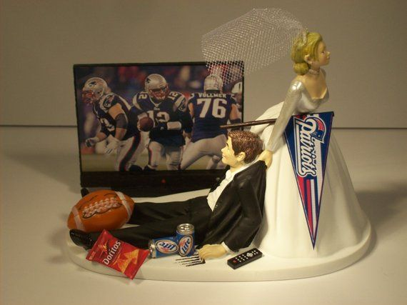 Wedding Party Reception ~Soccer Ball~  Game Over Sign Sports Funny Cake Topper