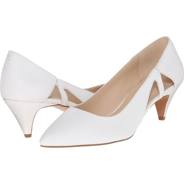 inch heel Shoes | White leather pumps