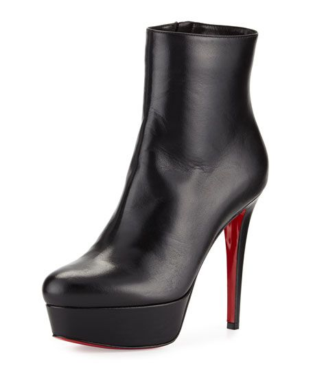 buy popular 51234 07992 Christian Louboutin Bianca Leather 120mm Red Sole Bootie ...