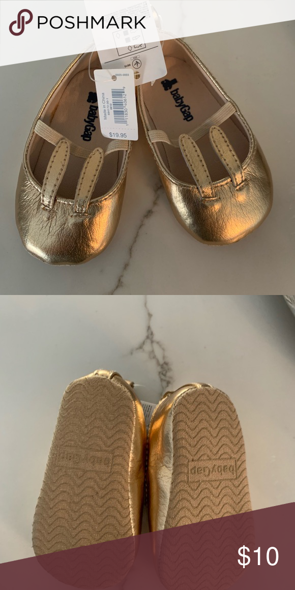 23135377a New Easter Bunny Gold Infant GAP shoes 6-12 months Easter Bunny GAP Gold  Infant