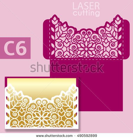 Laser cut wedding invitation card template vector wedding laser cut wedding invitation card template vector wedding invitation or greeting card with abstract ornament stopboris Images