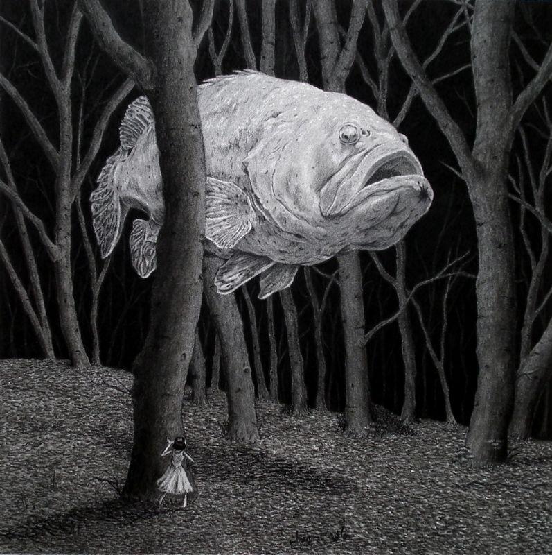 Les 25 meilleures id es de la cat gorie illustration de - Croquis poisson ...