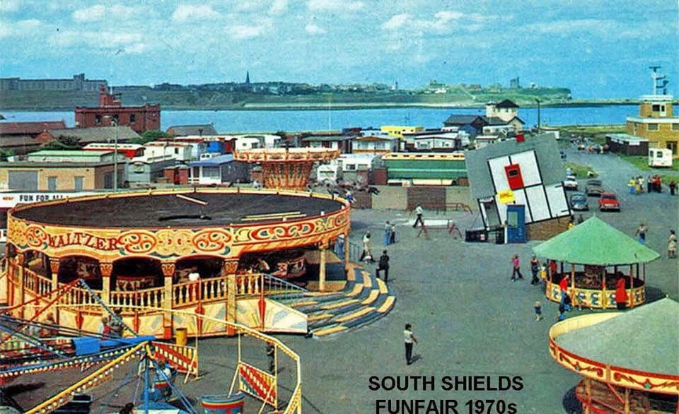South Shields Funfair 1970s North East England Local History Coast
