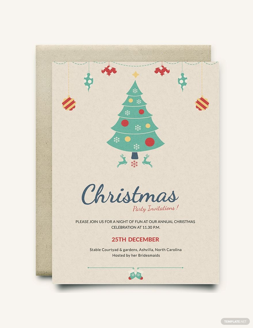 Modern Christmas Party Invitation Template Free Jpg Word Outlook Apple Pages Psd Publisher Template Net Christmas Invitations Template Party Invite Template Christmas Party Invitation Template