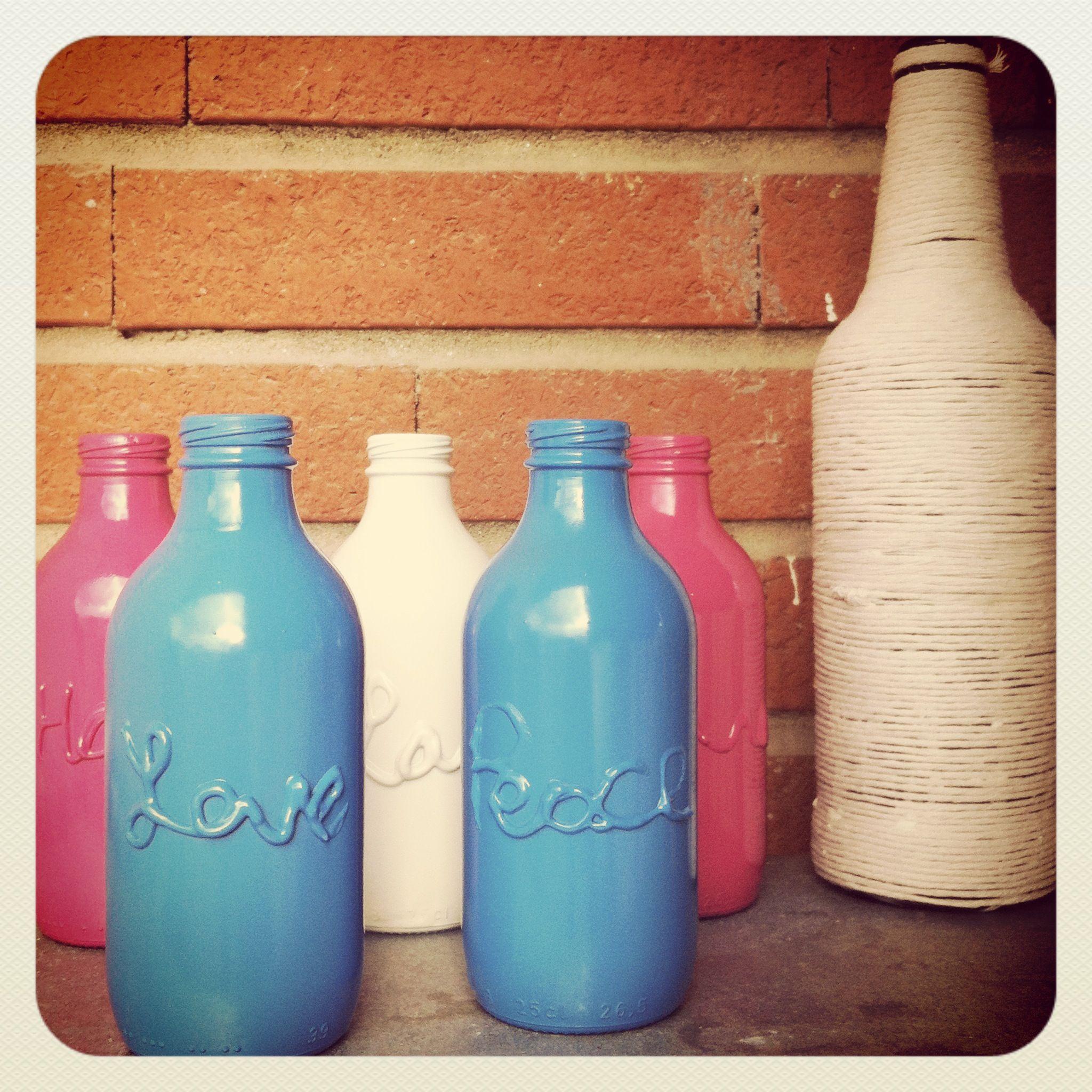 Recycled beer bottle/vase <3<3<3