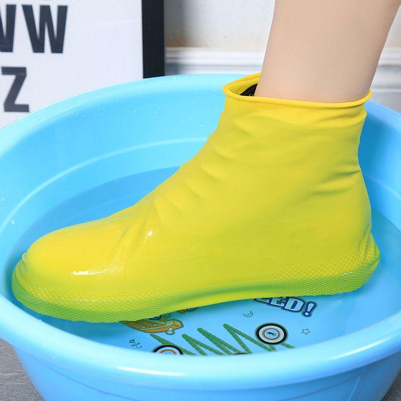 Waterproof Rain Shoes Cover Anti-slip Boots Motorcycle Bike Reusable Overshoes