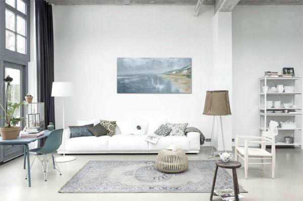 Met een vloerkleed maak je van de woonkamer één geheel, met de ...