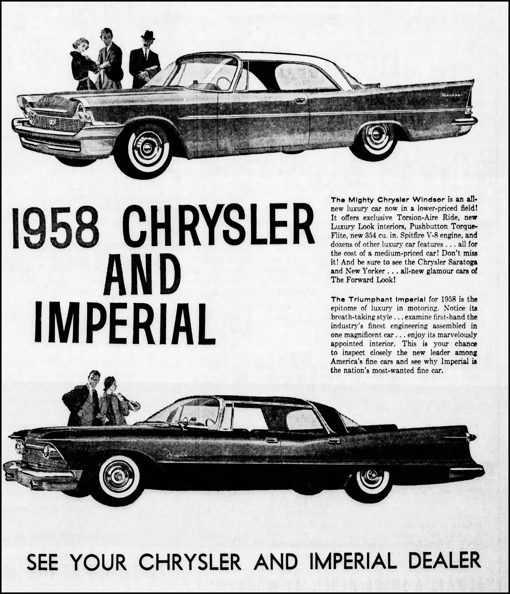 vintage newspaper advertising for the 1958 chrysler and imperial automobiles in the lubbock texas evening journal may 26 1958 vintage newspaper chrysler automobile pinterest