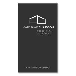 Logo à la maison moderne sur le gris pour la carte de visite ...