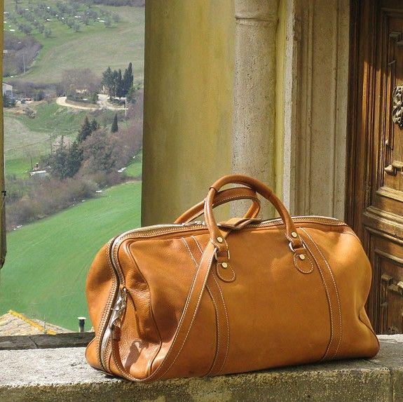 cdc39793abf7 Parma Italian Leather Duffel Bag - Fenzo Italian Bags
