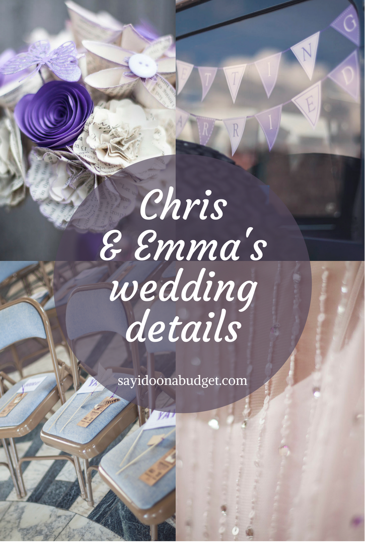 Chris And Emma S 2k Purple Wedding Details Real Budget Feature On Sayidoonabudget