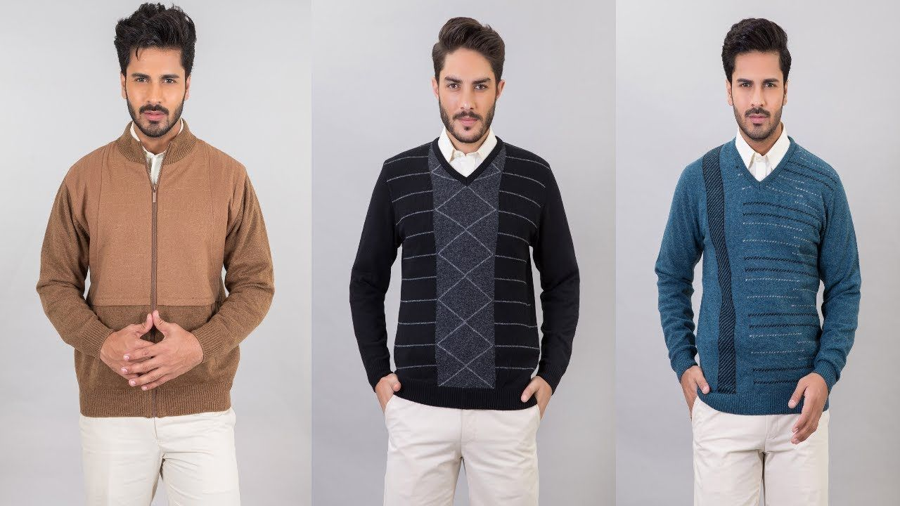 Bonanza Satrangi Sweaters Men Knitwear Collection 2018 For