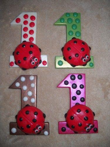 1 chocolate shimmer ladybug baby shower 3x4 letter lollipops lollipop | sapphirechocolates - Edibles on ArtFire