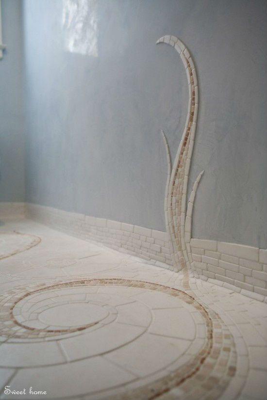 Mosaiik kaunistus vannitoas.