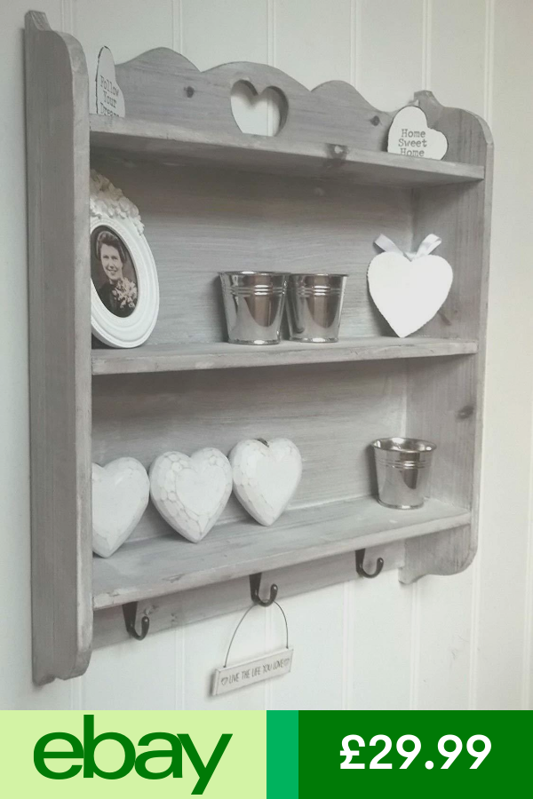 Agi Bookcases Shelving Storage Home Furniture Diy Ebay Shabby Chic Wall Unit Shelves Shabby Chic Shelves