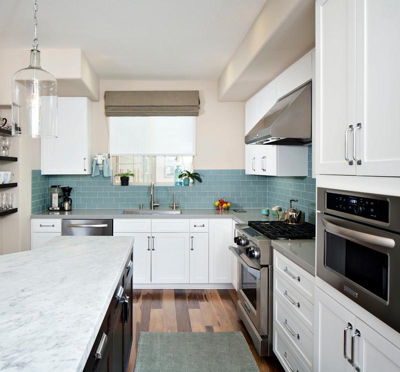 Kitchen No Backsplash: No More White! 10 Colorful Subway Tile Backsplashes