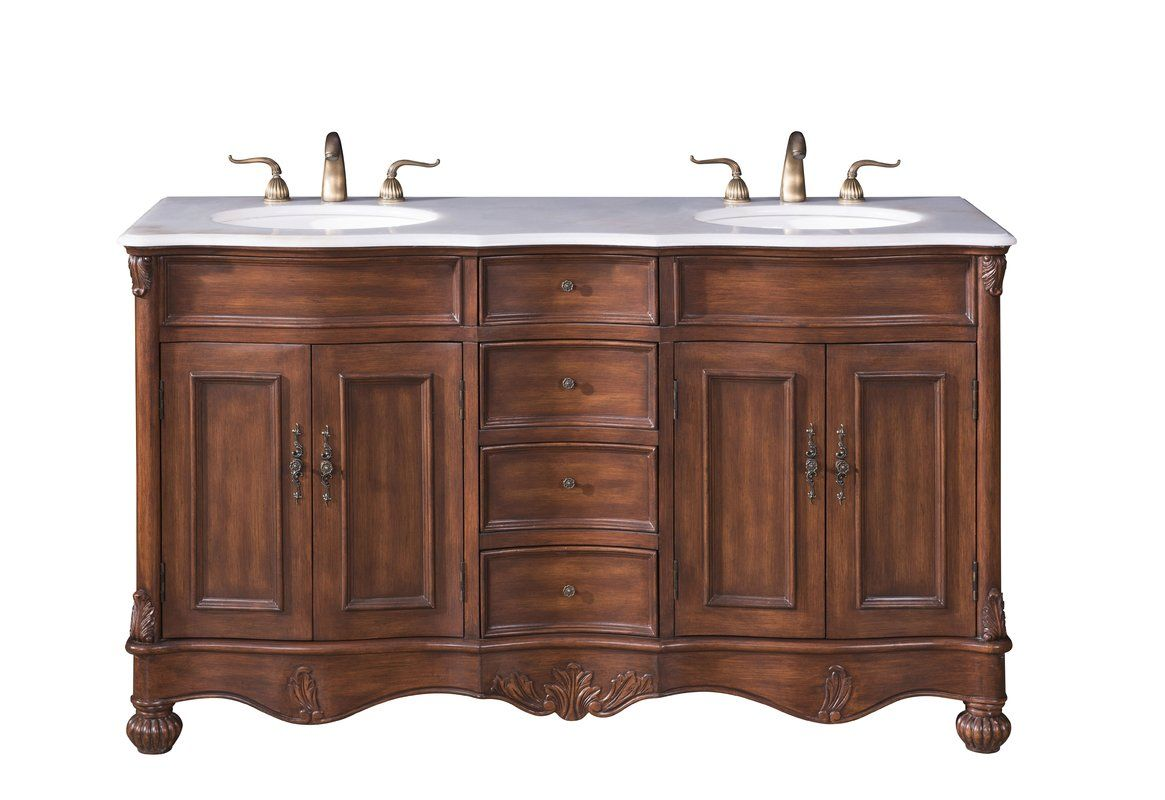 Torrey 60 Double Bathroom Vanity Set Vanity Vanity Set Double