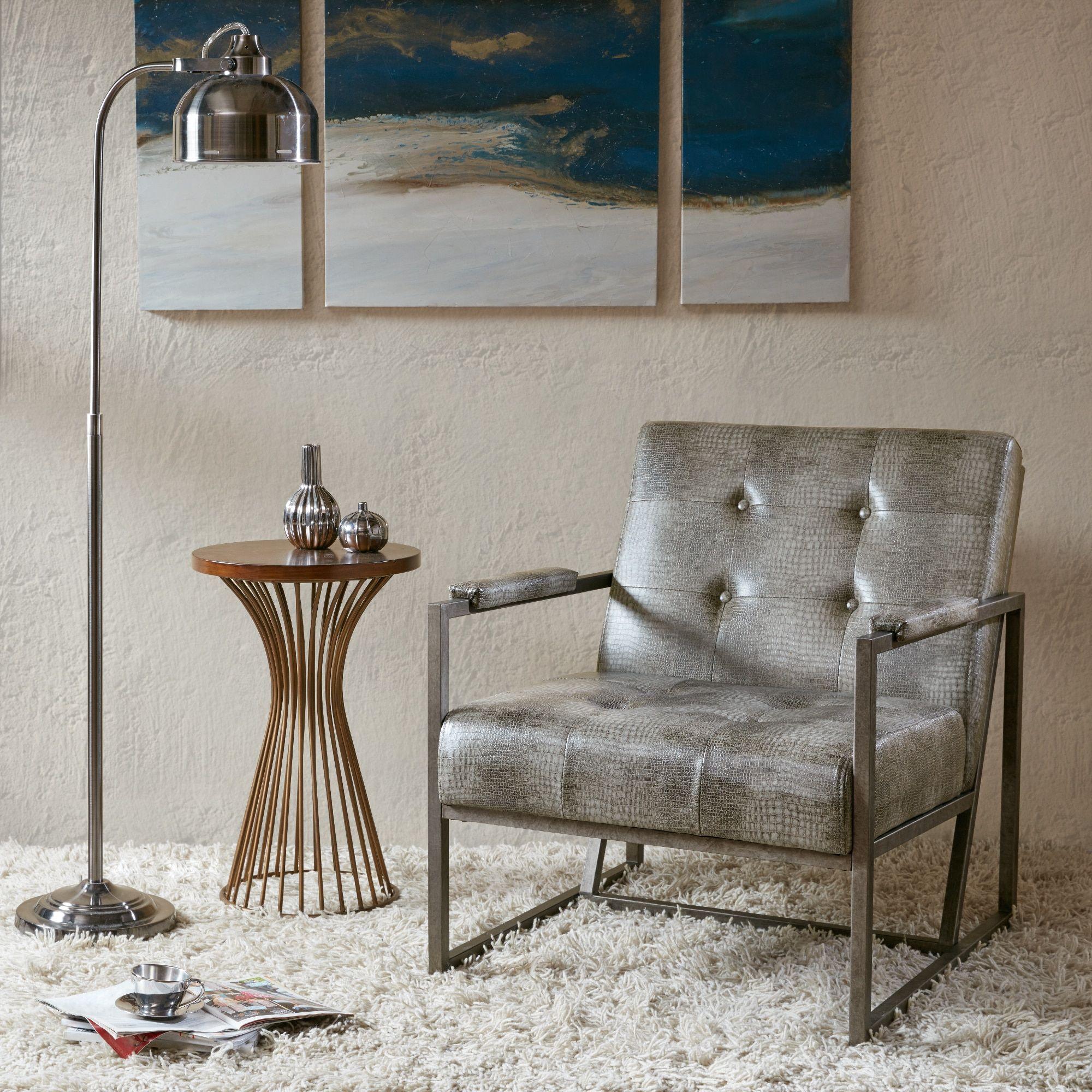 Astonishing Strick Bolton Normani Brown Faux Leather Metal Frame Inzonedesignstudio Interior Chair Design Inzonedesignstudiocom