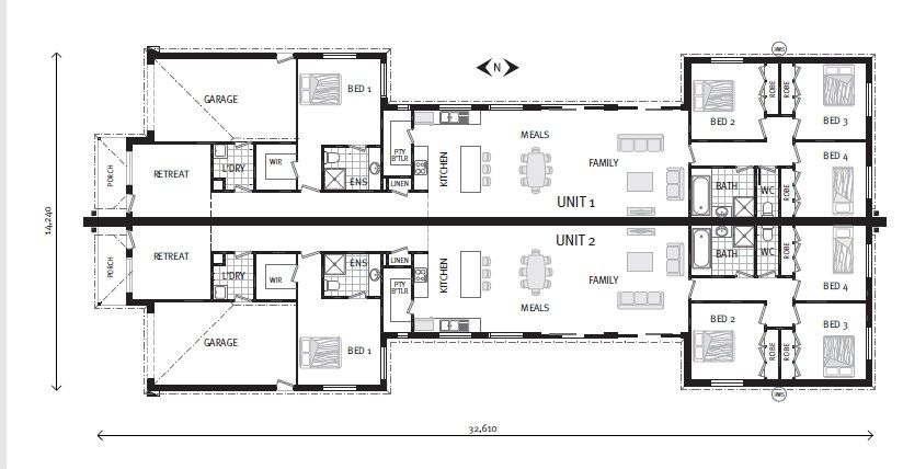 Bellagio 195 dual occupancy home designs in gj gardner homes