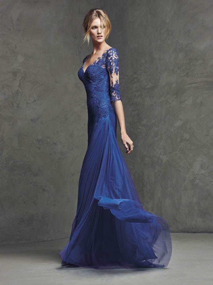 Pronovias Lasima Sz.14 Blue rushed netting Original Price $972 SA ...