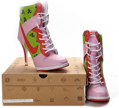 Patrick Star Nike Dunk Heels High Green Pink Red, cheap Nike Heels High, If  you want to look Patrick Star Nike Dunk Heels High Green Pink Red, ...