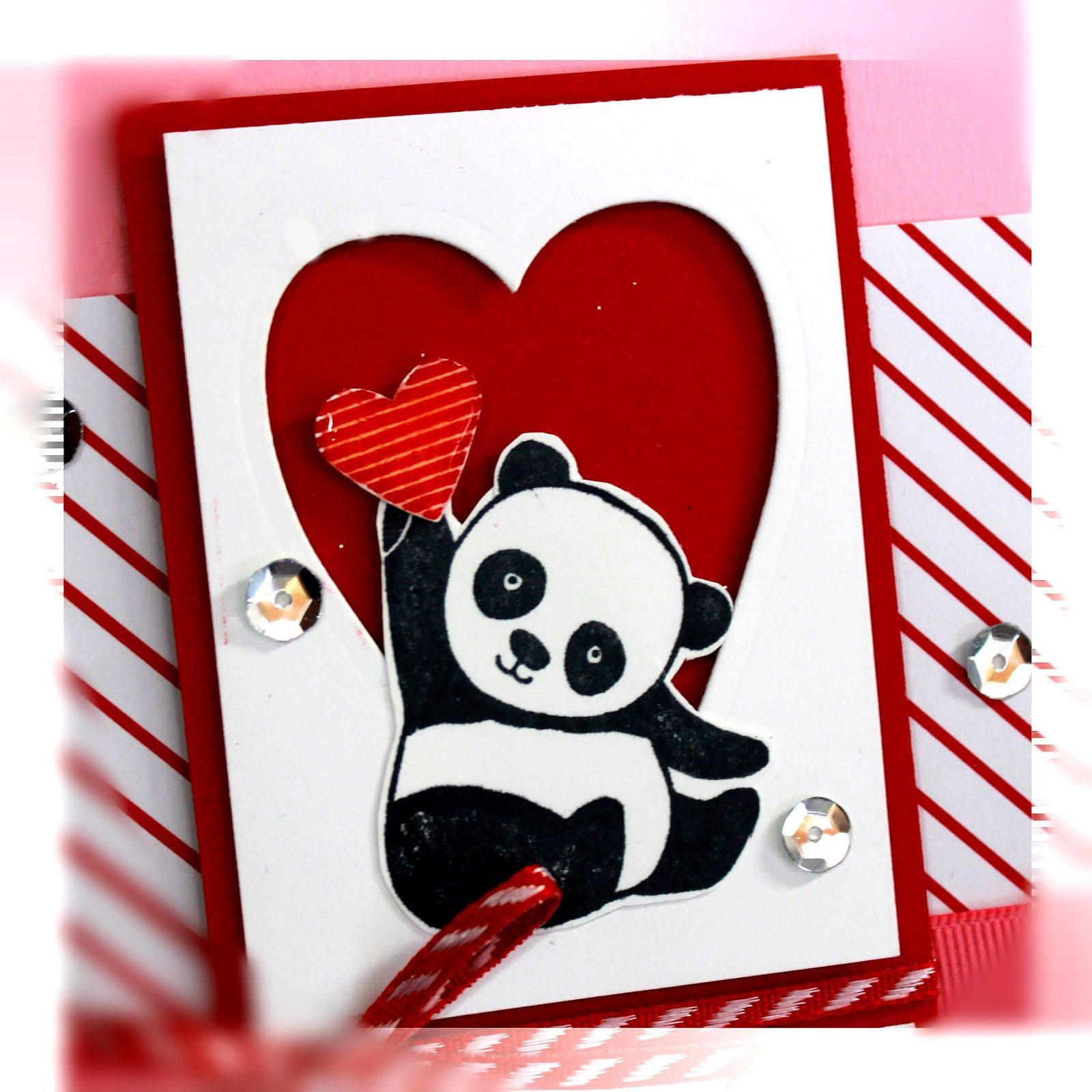 Party Pandas Panda Card Stampin Up Valentine Cards Childrens Valentine Cards