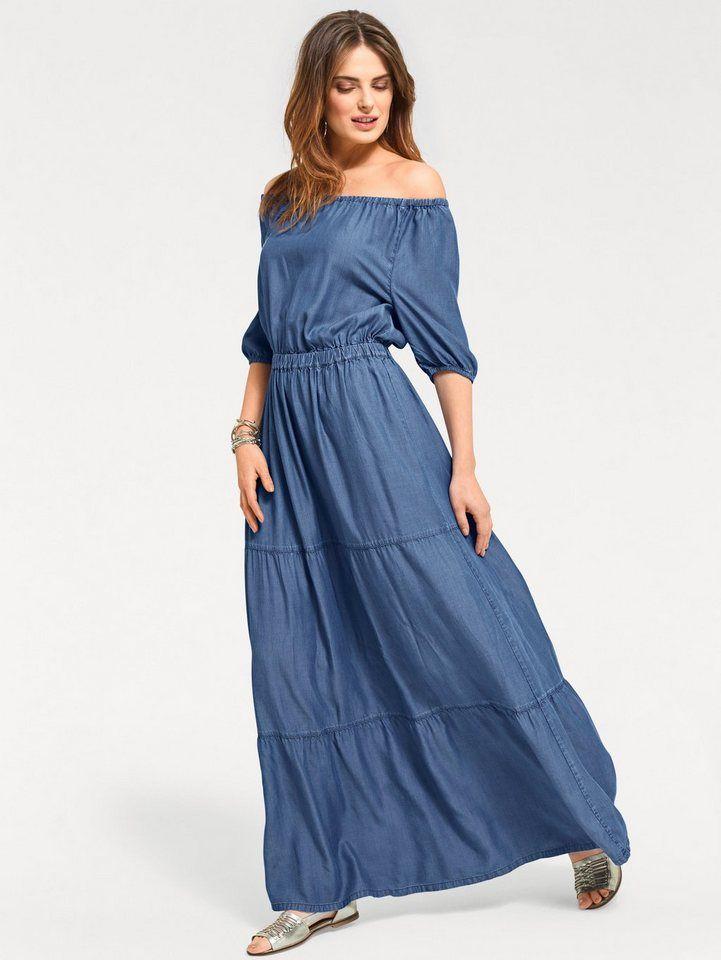 authentic quality pretty nice top design heine CASUAL Kleid mit Carmenausschnitt | Mode in 2019 ...