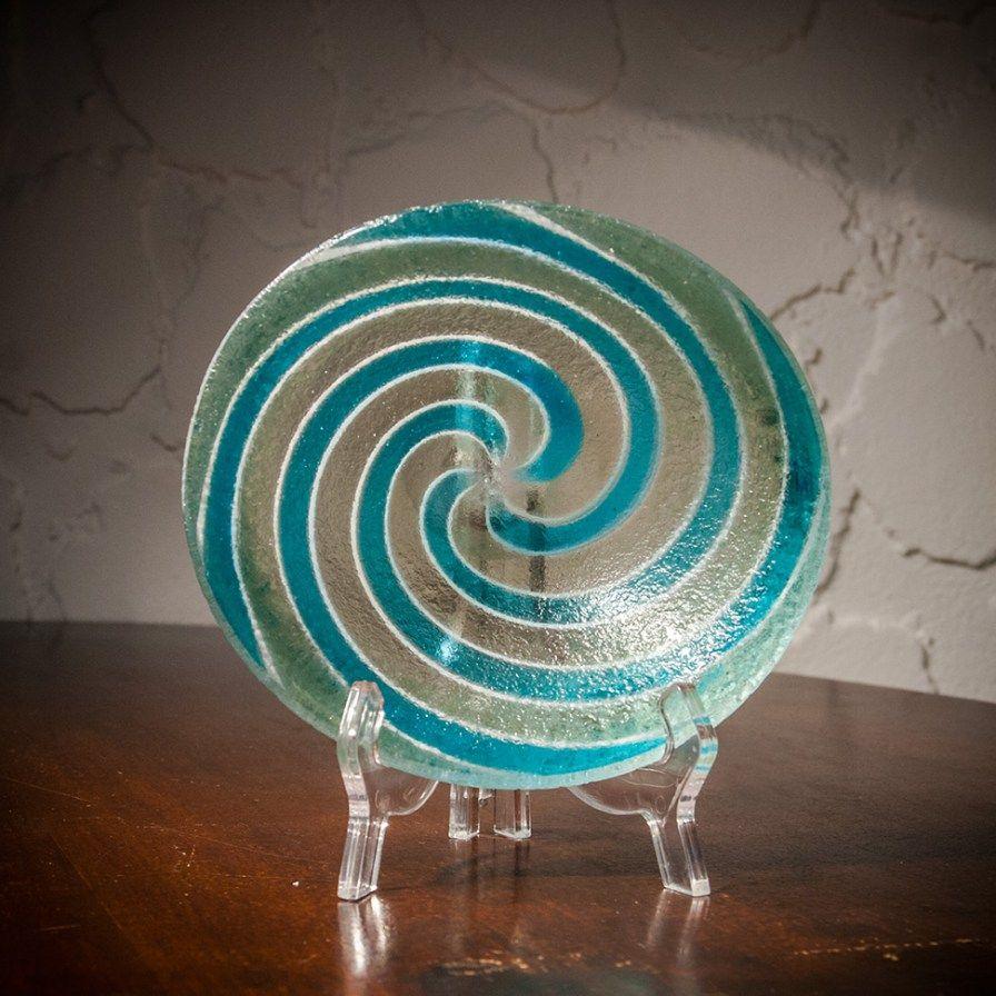 Flavio Poli 'corroso / a fasce spirali' bowl, c. 1950, Seguso Vetrid'Arte
