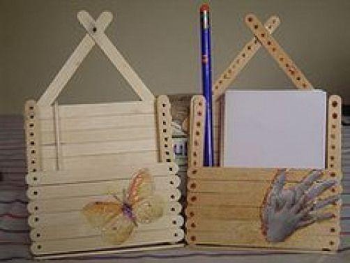Foto Porta Lapis De Palito De Sorvete 05 Kidswoodcrafts With