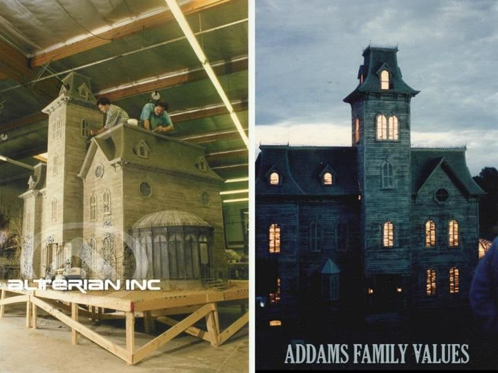 The Making Of The Mansion Model In The Addams Family