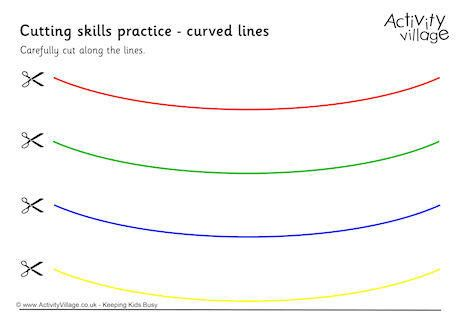 Cutting Curved Lines Solid | Free Printables | Pinterest | Free ...