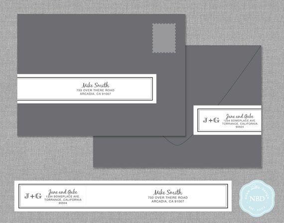 sophistication wraparound mailing address label printable diy