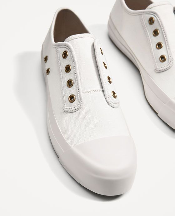ZARA - MAN - WHITE SNEAKERS WITHOUT LACES 351881415